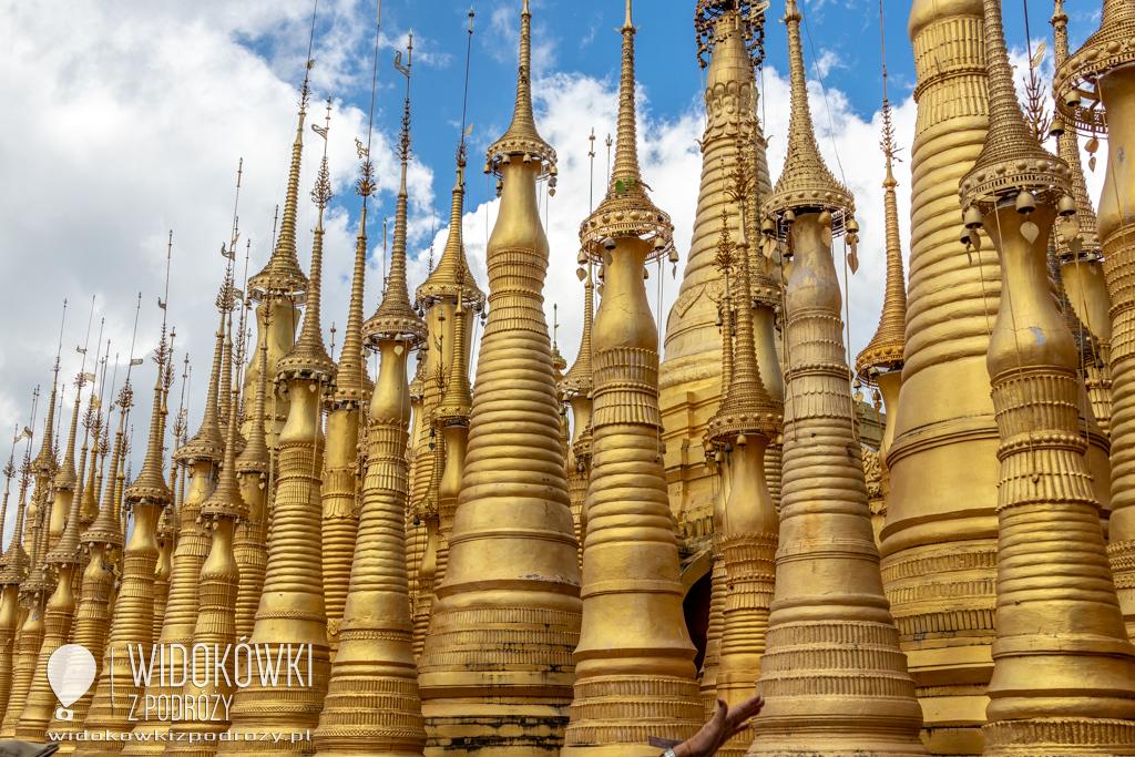 Już za dwa kilometry będzie świątynia, czyli Pagoda Indein w Birmie